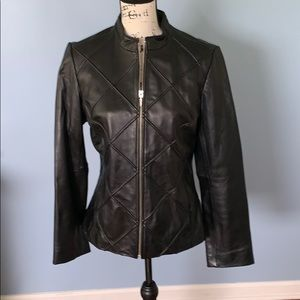 Genuine leather MOSSIMI jacket
